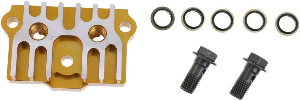 MagiDeal Ersatz /Ölk/ühler CNC K/ühler Adapter Platte Reparatur Zubeh/ör f/ür Motorrad ATV Gel/ändemotorrad