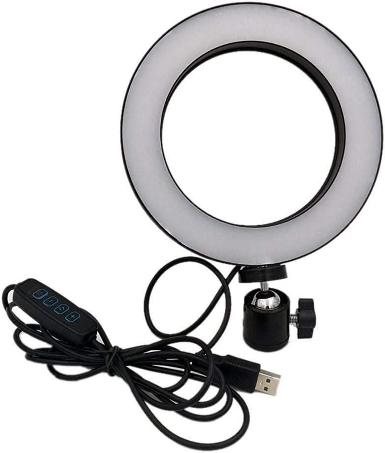 Sliveal Beauty LED Ring Light Dimmable Selfie Light Kit Makeup Photography LED Ring Light Dimmable Selfie Light Kit Makeup Photography Lighting Mini Circle Desktop Lamp Light physical