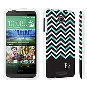 DuroCase ? HTC Desire 510 Hard Case White - (Black Mint White Chevron E)