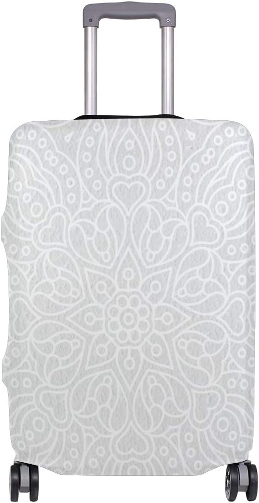 Cute 3D Damask Boho Style Pattern Luggage Protector Travel Luggage Cover Trolley Case Protective Cover Fits 18-32 Inch