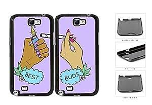 Best Buds Marijuana Best Friend Set Hard Plastic Snap On Cell Phone Case Samsung Galaxy Note 2 II N7100