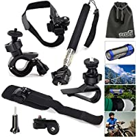 EEEKit 6in1 Accessory Kit for Ion Air Pro Lite / Air Pro 2 / Air Pro 3 / Air Pro Camera, Handheld Monopod Selfie Sticker + Car Sun Visor + Helmet/Bike Handlebar/Wrist Strap Mount