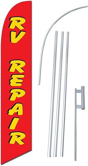 RV SALE super flag swooper polyester