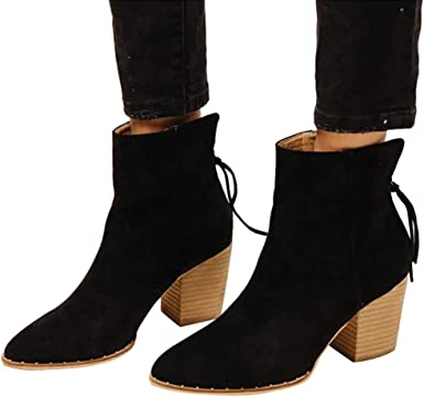 Green Faux Suede High Chunky Heel Lace Up Platform Ankle Boot Bootie Promise
