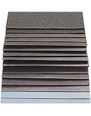 S&R Sandpapper, vattentätt slippapper sortiment för våt och torr användning, 60 st, 15 kornstorlekar från P80 till P3000