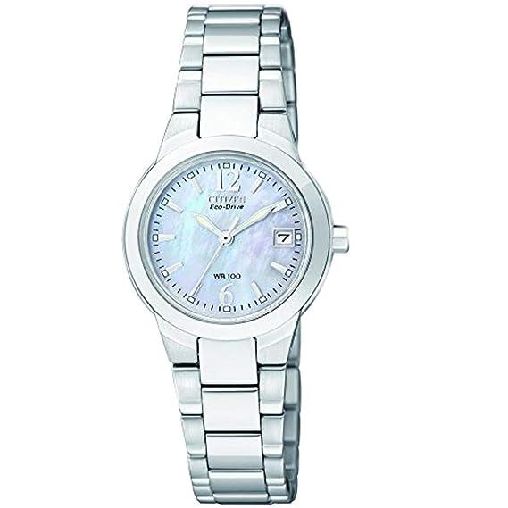 Citizen EW1670-59D - Reloj analógico de cuarzo para mujer, correa de acero inoxidable