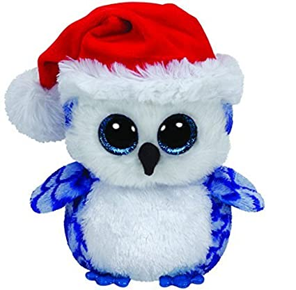 5f73d177f7b Amazon.com  Ty Beanie Boos - Icicles the Owl Christmas Special 10 ...