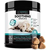 PetHonesty Calming Treats for Dogs - All-Natural Soothing Snacks with Hemp + Valerian Root, Stress & Dog Anxiety Relief, Calming Aid for Dogs Helps Travel, Separation, Car Rides, Thunderstorms, 90ct