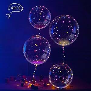 LeeHur Globos de Látex Muticolores Globos de Látex Decoración para Fiesta, Cumpleaños, Boda, Navidad - Colores Mezclados (4 Piezas)