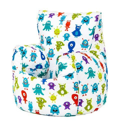 Monsters Aliens Print Children's Ready Filled Fun Bean Bag Chair Seat Kids Toddler Furniture Ready Steady Bed