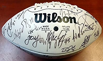 2001 Arizona Cardinals Team Signed Autographed Football With 58 Signatures Including Pat Tillman PSA/DNA #Z05270