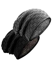 Men Women Thick Slouchy Knit Beanie Cap Hat Winter Warmming Cap