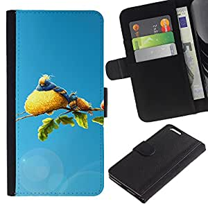 Ihec-Tech / Flip PU Cuero Cover Case para Apple Iphone 6 PLUS 5.5 - Cute Bird Family