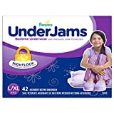 Pampers UnderJams Disposable Bedtime Underwear for Girls Size L/XL, 42 Count, SUPER