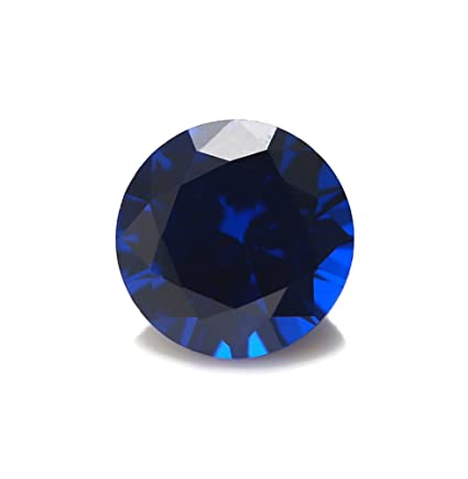 94a291f0447b1 Alone Moon 1000pcs Loose Sapphire Synthetic Gemstones Round Diamond Cut  Perfect Replacement for Jewelry Making (1mm, Sapphire)