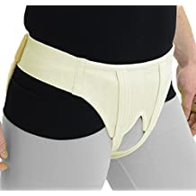 ITA-MED Deluxe Hernia Support Brace Double Sided with Removable Inserts: HS-484, Medium