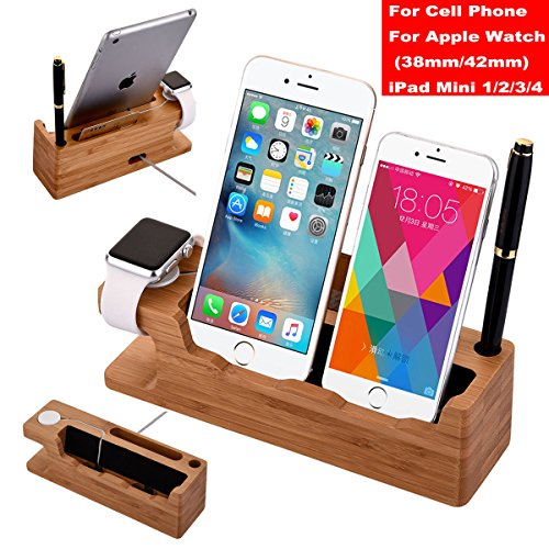 Bamboo-Charging-Dock-Station-Charger-Stand-Holder-For-Apple-Watch-iWatch-iPhone