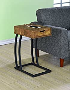 Coaster Home Furnishings 900577 Accent Table, Antique Nutmeg