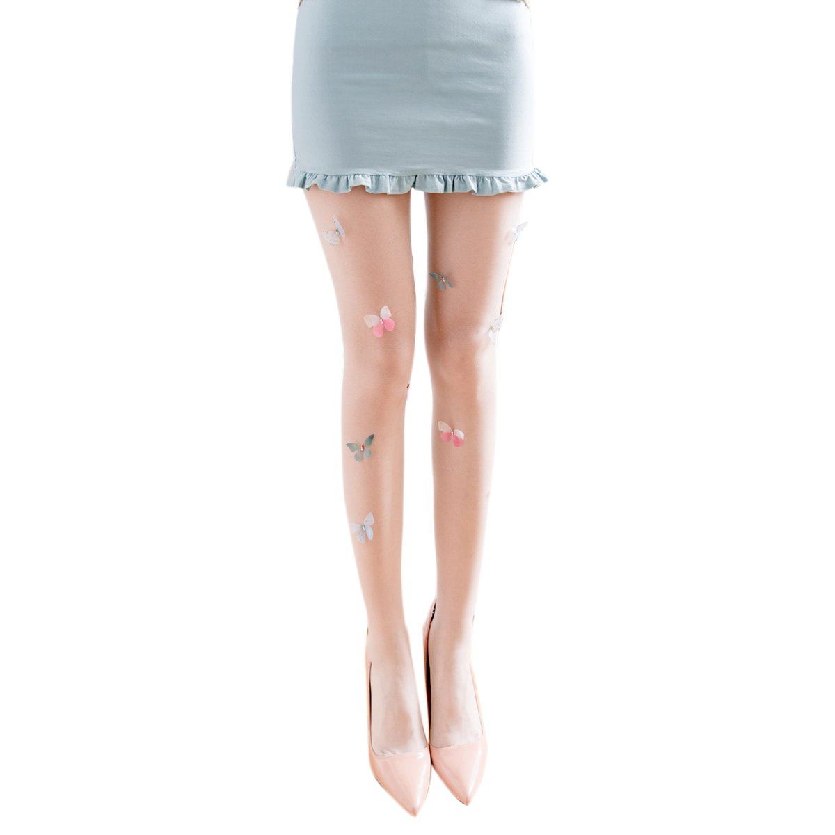 fee74e711 SODIAL Lolita Tights Stockings for Women Girl s Pantyhose Design cute  Butterfly Tattoo Party Tights Nylons Stockings(Skin)  Amazon.co.uk  Clothing
