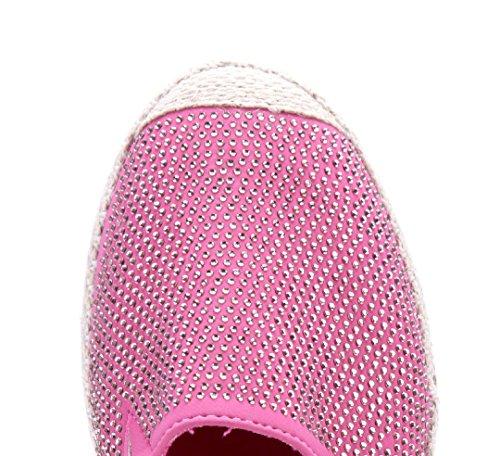 Schuhtempel24 Damen Schuhe Halbschuhe Flach Ziersteine Rot