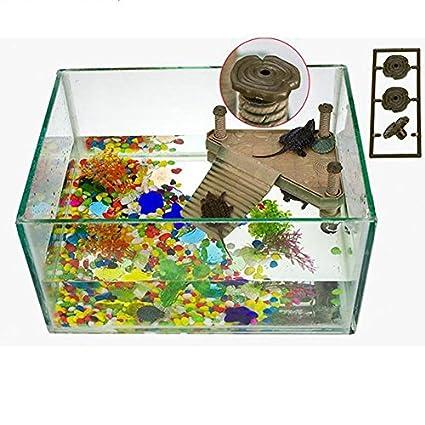 Plataforma acuario con rampa para tortugas reptiles tritones estanques pecera terrario S de OPEN BUY