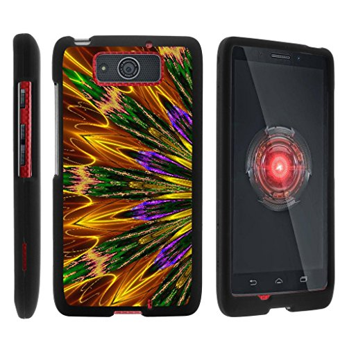 MINITURTLE Case Compatible w/ Miniturtle [Motorola Droid Maxx Case, Droid Ultra Slim Cover] [Snap Shell] 2 Piece Hard Cover Plastic Snap On Case Kaleidoscopic Phoenix