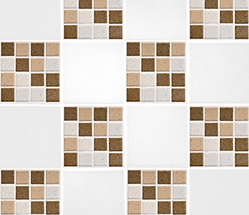 Brown Mosaic Tile Flooring - Pack of 10 4