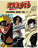 NARUTO : Coloring Book : Series (Vol.1 - 3): cartoon coloring