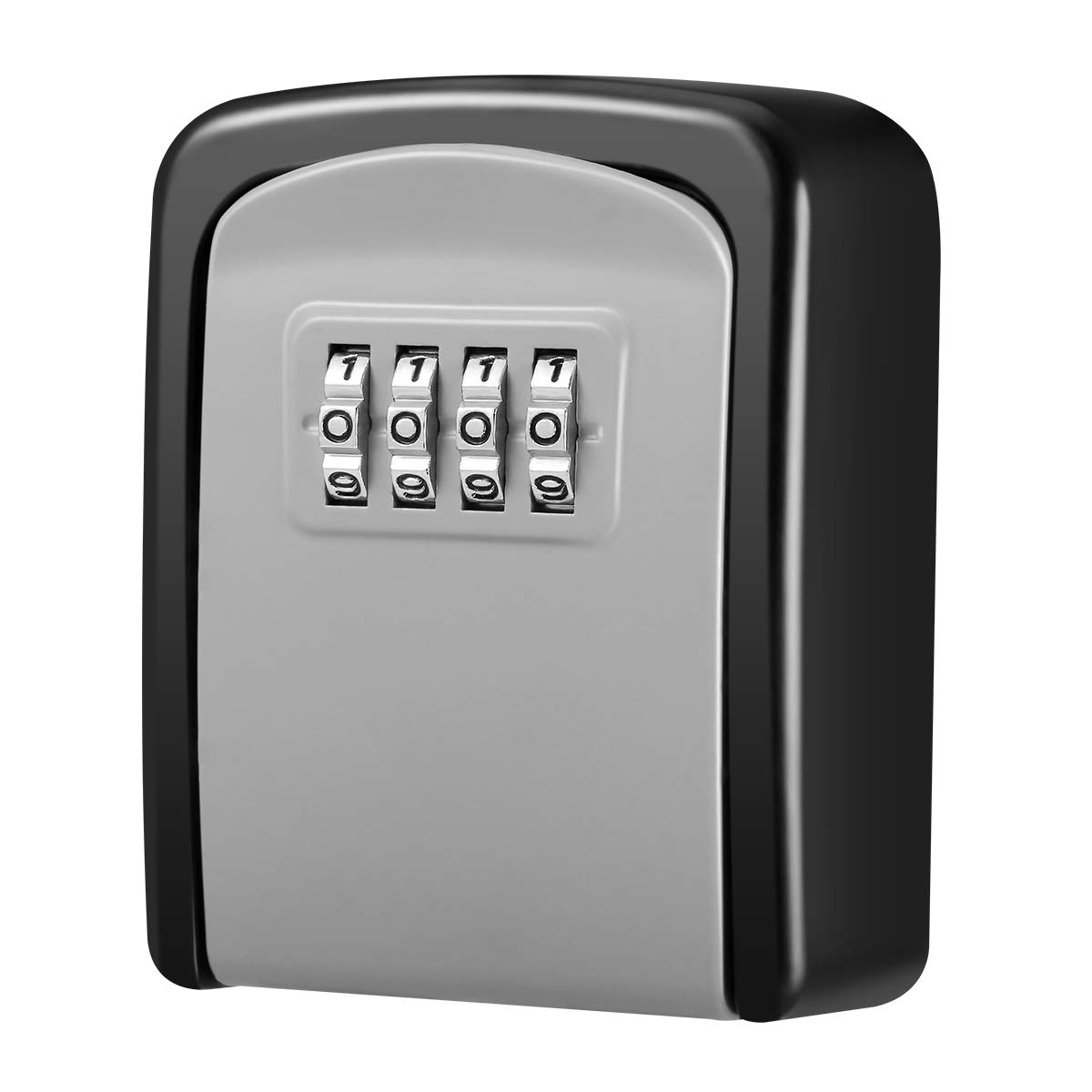 [New Version] KeeKit Key Lock Box with 4 Digit Combination, Resettable Code Key Storage Lock Box, Wall Mounted Key Safe Box Waterproof, 5 Key Capacity for Car, Home, Warehouse, Office, Indoor, Outdoor by KeeKit