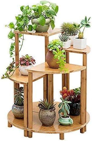 """TANGIST 木製 花棚 植物棚 フラワースタンドコンビネーションセクターバルコニー多層ソリッドウッドのリビング鍋つかみ""""ランディングシンプルな竹の観葉植物 組み立て式 頑丈"""