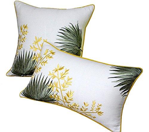 BLUETTEK Cotton Linen Decorative Throw Pillow Case 18 x 18 I