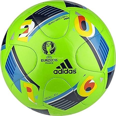 adidas Euro 2016 Praia Balón, Hombre, Verde/Azul/Gris, 5: Amazon ...