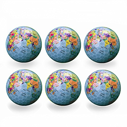 Funny Novelty Practice Golf Balls 6Pack For Kids Men Woman , Christmas Birthday Gift -