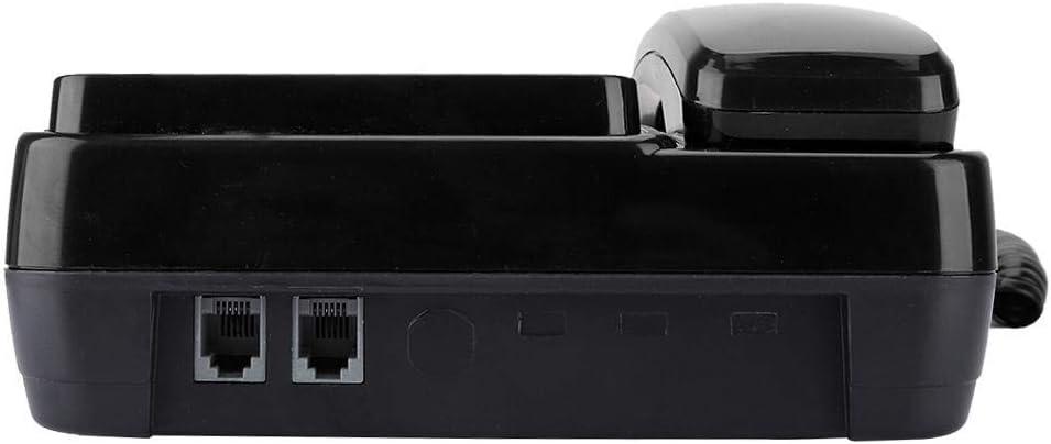 Garsent Schnurgebundenes Telefon DTMF//FSK-Dualmodus Schnurtelefon mit LCD-Bildschirm Wand Tischtelefon f/ür Home Hotel rot