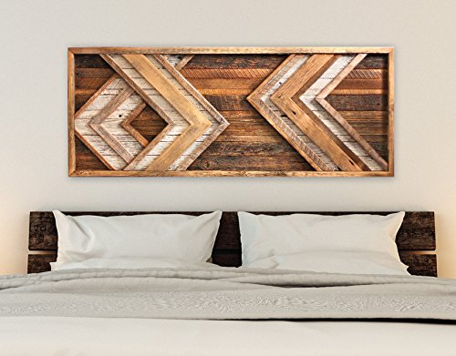 Reclaimed Wood Wall Art   Chevron Decor