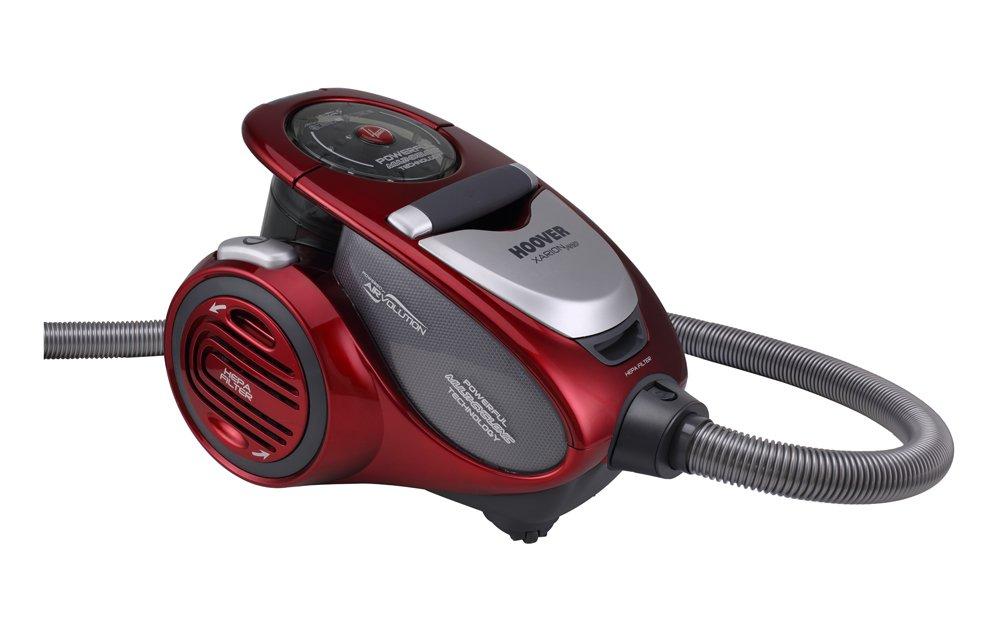 Hoover TRAINO XP81_XP25 Aspirador Trineo, 800 W, 1.5 litros, 75 Decibelios, Plástico, Rojo Metalico