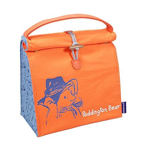 Genuine Paddington Bear Marmalade Sandwich Insulated Cotton Lunch Bag Box (Classic Paddington Bear With Boots And Suitcase)