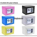 New Electronic White Safe Box Digital Security Keypad Lock Office Home Hotel US - White by Brand New
