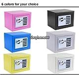 New Electronic White Safe Box Digital Security Keypad Lock Office Home Hotel US - Black