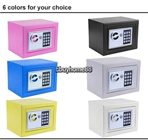 New Electronic White Safe Box Digital Security Keypad Lock Office Home Hotel US - White (Mod Podge Accessories)