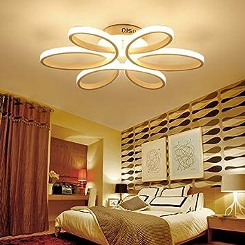 Deckenleuchte $ LED Deckenleuchte, Schlafzimmer Leuchtet Warme Romantische  Ehe Zimmer Haushalt Blume Form Master Schlafzimmer