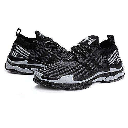 Btrada Heren Mesh Lichtgewicht Atletische Hardloopschoenen Comfortabele Casual Sneakers Wit