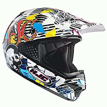 Casco Hjc Cs-Mx Clown BLANCO/NEGRO/AMARILLO/AZUL T-XS