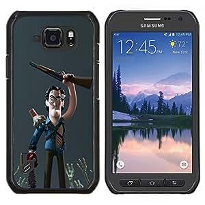EJOOY---Cubierta de la caja de protección para la piel dura ** Samsung Galaxy S6Active Active G890A ** --Carácter cazador de escopeta 3D Niños