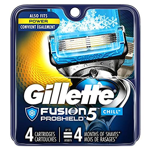 Gillette Fusion ProShield Chill Cartridges - 4 ct, Pack of 2