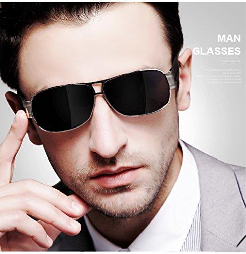 De Marco Lente Hombres Resina Moda Sol Inoxidable De MYLEDI De Completo Polarizadas Acero De Gafas Marco STnOWqB8