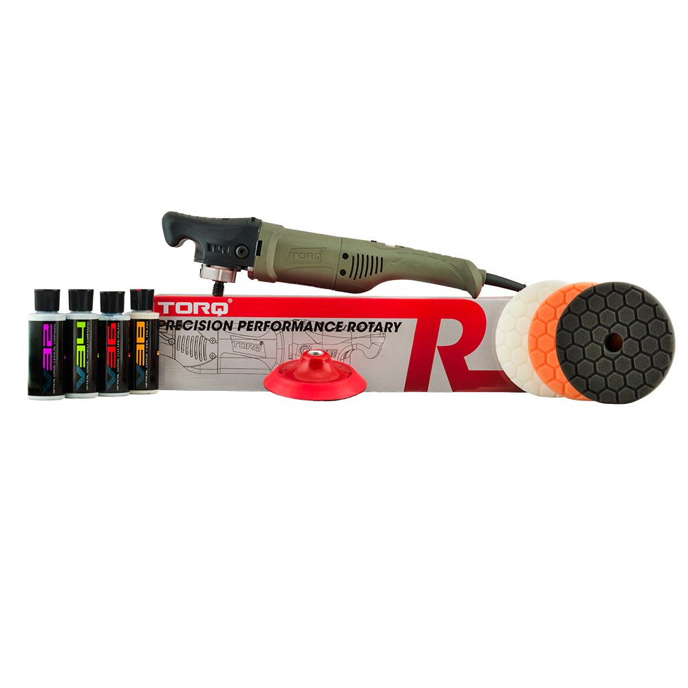Torq BUF504X TORQR Precision Power Rotary Polisher Kit (9 Items), 4. Fluid_Ounces, 9 Pack by Torq (Image #1)