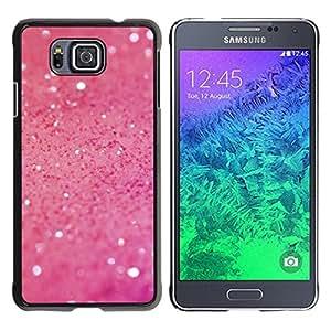 iKiki Tech / Estuche rígido - Sparkle Sand Texture Bling Flashy - Samsung GALAXY ALPHA G850