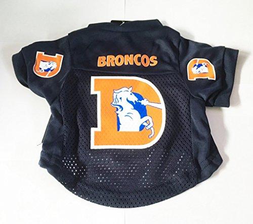 NFL Denver Broncos Pet Dog Mesh Football Jersey Throwback Style Medium