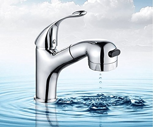 S.Twl.E Sink Mixer Tap Faucet Bathroom Kitchen Basin Water Tap Leakproof Save Water Cold Water Taps Stretch Basin Bathroom Basin Sink Single Hole Single Handle A